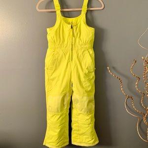 L.L Bean - snow suite yellow girls size 6-7